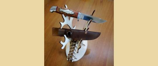 """Нож подарочный с инкрустацией на рукояти """"рыба"""", """"медведь"""", """"олень""""."""
