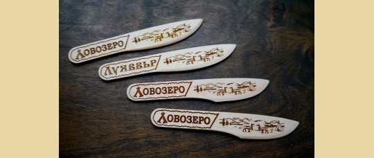 Ножи для масла из дерева