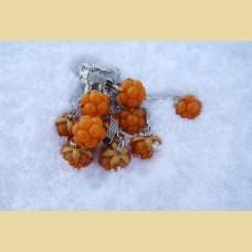 Морошка - брелок из полимерной глины.